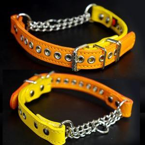 ハーフチョーク 中形犬用 革 2cm幅:2cm Type チョーカー 004(鋲なし)【色は10色以上から、サイズは1cm単位でオーダー】|extraheavyy|02