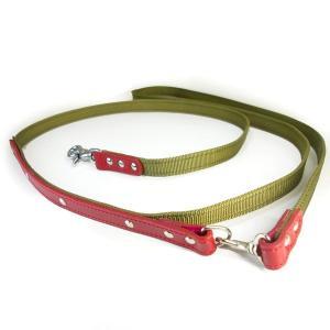 肩がけ リード PPテープ 革:2cm幅Lead 007 【色は革10色以上から、PPテープは7色から、長さもオーダーできる!】|extraheavyy