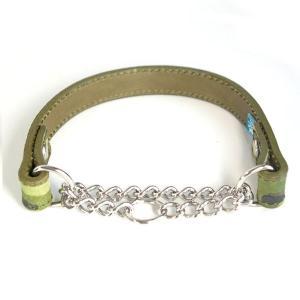 ハーフチョーク 中形犬用 革 2cm幅:2cm Type チョーカー H-ZERO (鋲なし)【色は10色以上から、サイズは1cm単位でオーダー】|extraheavyy|02