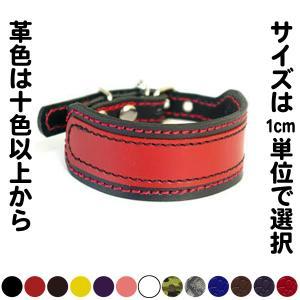 首輪 イタグレ ミニピン 革 幅広:Small Type G2_000ダブルカラー(鋲なし) *色は8色から、サイズは1cm単位でオーダー|extraheavyy
