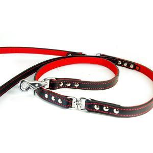 2cm幅強度肩がけ革リード:EX Lead 006【色は革7色以上から、PPテープは7色から、長さもオーダーできる!】|extraheavyy