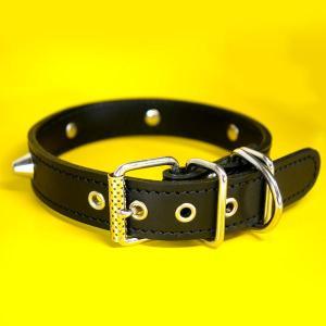首輪 中型犬用 スタッズ 革 :2.5cm Type 002(14mm鋲)Light 【色は5色から、サイズは1cm単位でオーダー|extraheavyy|02