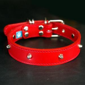 首輪 中型犬用 スタッズ 革 :2.5cm Type 005(8mm鋲)Light 【色は5色から、サイズは1cm単位でオーダー|extraheavyy