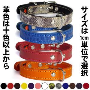 首輪 中型犬用 革 2cm幅:2cm Type 000(鋲なし)【色は10色以上から、サイズは1cm単位でオーダー】|extraheavyy