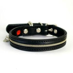 首輪 中型犬用 革 2cm幅:2cm Type Zipper【色は2色から、サイズは1cm単位でオーダー】|extraheavyy