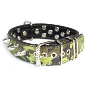 首輪 中型犬用 スタッズ 革 3cm幅:3cm Type 006(14mm+8mm鋲)【色は10色以上から、サイズは1cm単位でオーダー】|extraheavyy|02