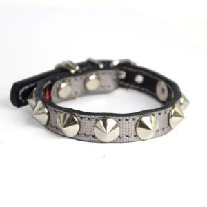 小型犬用革首輪:Small Type X1 シルバー|extraheavyy
