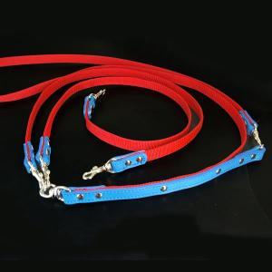 肩がけ リード PPテープ 革:2頭引き肩がけLead 007ダブルリード【色は革10色以上から、PPテープは12色から、長さもオーダーできる!】|extraheavyy
