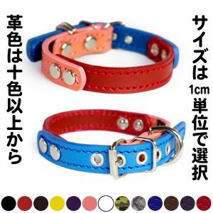 首輪 小型犬用 革 1.5cm幅:Small Type FB*色は十色以上から、サイズは1cm単位でオーダー|extraheavyy