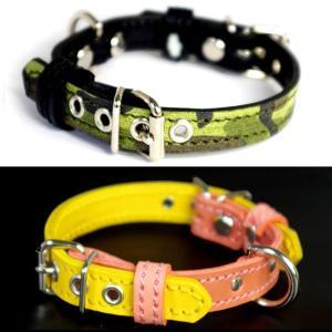 1.5cm幅の小型犬用革首輪:Small Type FF *色は十色以上から、サイズは1cm単位でオーダー|extraheavyy