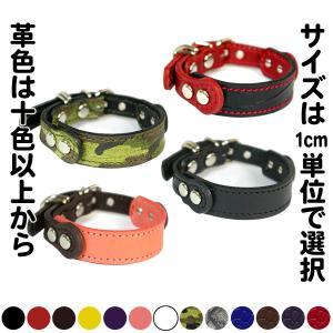 首輪 小型犬用  革 2cm幅:Small Type GF *色は十色以上から、サイズは1cm単位でオーダー|extraheavyy