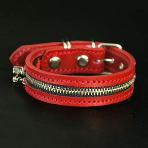 2cm幅の小型犬用革首輪:Small Type G5-Zipper *サイズは1cm単位でオーダー|extraheavyy