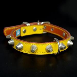 アウトレット0328:2cm幅の中型犬用革首輪(36cm)|extraheavyy