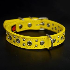 アウトレット0330:2cm幅の中型犬用革首輪(33cm)|extraheavyy