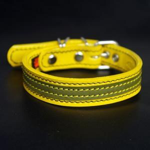 アウトレット0338:2cm幅の中型犬用革首輪(29cm)|extraheavyy