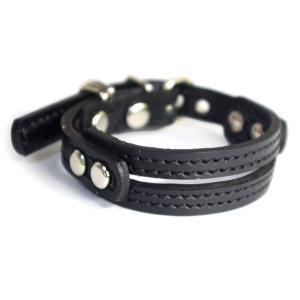 アウトレット0399:小型犬用2cm幅革首輪(23cm) extraheavyy