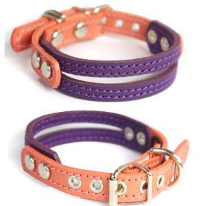 アウトレット0442B:小型犬用2cm幅革首輪(27cm) extraheavyy