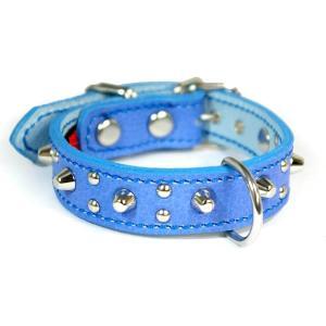 アウトレット0113:2cm幅の小型犬用スタッズ革首輪(24cm)|extraheavyy