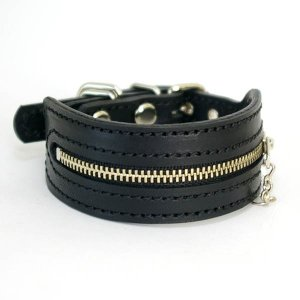 首輪 イタグレ ミニピン 革 幅広:Small Type G2_Zipper  *サイズは1cm単位でオーダー|extraheavyy