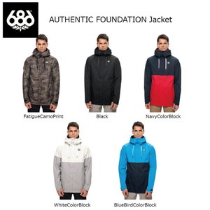 18 686 AUTHENTIC FOUNDATION Jacket 5カラー シックスエイトシックス オーセンティック ファンデーショーン ジャケット 17-18 2017-18|extreme-ex