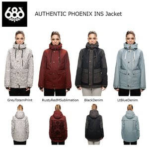 18 686 W AUTHENTIC PHOENIX INS Jacket 4カラー オーセンティック シックスエイトシックス ウーマンズ フェニックス ジャケット 17-18 2017-18|extreme-ex
