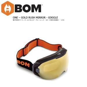 予約商品 19 ABOM Goggle ONE-GOLD RUSH MIRROR エーボム ゴーグル ワン 温熱伝導フィルム ゴーグル 18-19 2018-19 19Snow|extreme-ex
