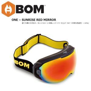 予約商品 19 ABOM Goggle ONE-SUNRISE RED MIRROR エーボム ゴーグル ワン 温熱伝導フィルム ゴーグル 18-19 2018-19 19Snow|extreme-ex