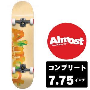 ALMOST スケートボード デッキ コンプリート セット 7.75インチ【 BLOTCHY PEACH 】 スケボー オールモスト|extreme-ex