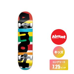 ALMOST スケートボード キッズデッキ コンプリート セット 7.25インチ【 STRIPE OUT MULTI 】 スケボー オールモスト DECK|extreme-ex