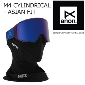 19 ANON Goggle M4 CYCLINDRICAL-AsianFit Blue/SonarInfraredBlue アジアンフィット アノン ゴーグル 眼鏡対応 18-19 2018-19 19Snow|extreme-ex