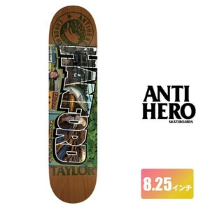 ANTIHERO スケートボード デッキ 8.25インチ【 TAYLOR ERROR MAIL PRO SERIES 】 スケボー オールモスト SKATEBOARD|extreme-ex