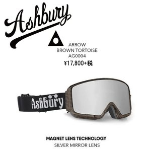 19 ASHBURY Goggle ARROW BROWN TORTOISE アシュベリー アロー ゴーグル 18-19 2018-19|extreme-ex