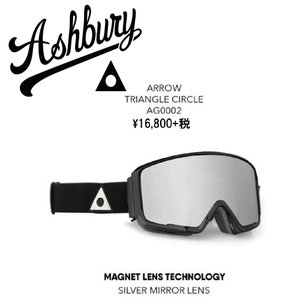 19 ASHBURY Goggle ARROW TriangleCircle アシュベリー アロー ゴーグル 18-19 2018-19|extreme-ex