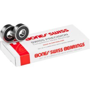 BONES Bearing スケートボード ベアリング 【 SWISS  BEARINGS (8 PACK) 】 スケボー ボーンズ ポスト投函可(メール便) extreme-ex