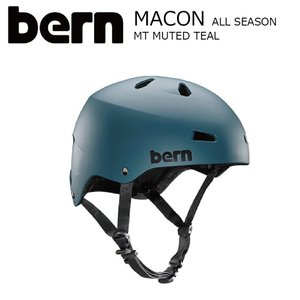 BERN MACON STREET Matte Muted Teal JapanFit スケートボード 自転車 ヘルメット バーン メーコン|extreme-ex
