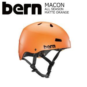 BERN MACON STREET Matte Orange JapanFit スケートボード 自転車 ヘルメット バーン メーコン|extreme-ex