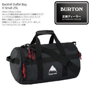18 BURTON Backhill Duffel Bag X-Small 25L True Black Tarp バートン バックヒル ダッフルバック|extreme-ex