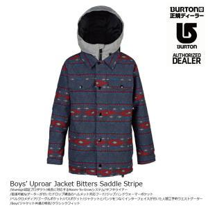 18 BURTON BOY'S UPROAR Jacket BittersSaddleStripe バートン ボーイズ  アップロー ジャケット 17-18 2017-18|extreme-ex