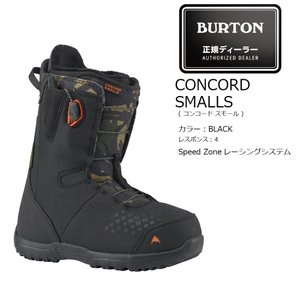 予約商品 19 BURTON CONCORD SMALLS Black/Camo (Y) バートン コンコード スモールズ スピードレース 19Snow|extreme-ex