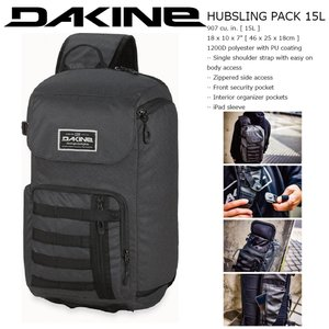 18 DAKINE HUBSLING PACK 15L BKO ボディバッグ・ウエストポーチ ダカイン バーンサイド BLACKOUT COLLECTION ジャパンリミテッド|extreme-ex