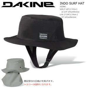 18 DAKINE INDO SURF HAT BLK ダカイン サーフ・海水浴用ハット 襟足日焼け防止|extreme-ex