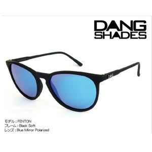 DANG Shades FENTON 偏光レンズ Black Soft x Blue Mirror Polarized vidg00258 ミラーレンズ トイサングラス ダン・シェイディーズ extreme-ex