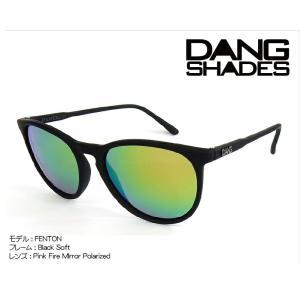 DANG Shades FENTON 偏光レンズ Black Soft x Pink Fire Mirror Polarized vidg00259 ミラーレンズ トイサングラス ダン・シェイディーズ extreme-ex