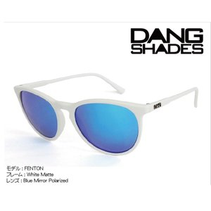 DANG Shades FENTON 偏光レンズ White Matte x Blue Mirror Polarized vidg00262 ミラーレンズ トイサングラス ダン・シェイディーズ|extreme-ex