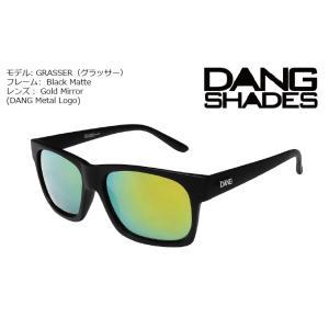 DANG Shades GRASSER Black Gloss x Gold Mirror DANG Metal Logo vidg00232-1 ミラーレンズ トイサングラス ダン・シェイディーズ|extreme-ex