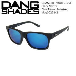 DANG Shades GRASSER 偏光レンズ Black Soft x Blue Mirror Polarized vidg00231-2 ミラーレンズ トイサングラス ダン・シェイディーズ|extreme-ex