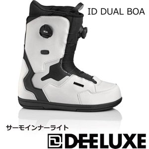 予約商品 21-22 DEELUXE ディーラックス ID DUAL BOA TF アイディー デュアルボア WHITE ダブルボア サーモインナーライト メンズ レディース|extreme-ex