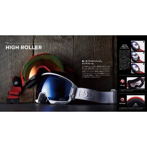 19 DICE Goggle HIGHROLLER KM4K-MINT(374)/パステルピンクミラー/偏光ピンク ダイス ハイローラー ボードゴーグル HR81361BL 18-19|extreme-ex