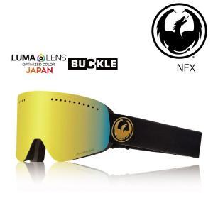 19 DRAGON Goggle NFX ECHO GOLD /Lumalanes J.GoldIon アジアンフィット ドラゴン エヌエフエックス ゴーグル ボードゴーグル 003 18-19|extreme-ex