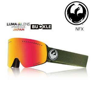 19 DRAGON Goggle NFX OLIVE GREEN /Lumalanes J.RedIon アジアンフィット ドラゴン エヌエフエックス ゴーグル ボードゴーグル 011 18-19|extreme-ex